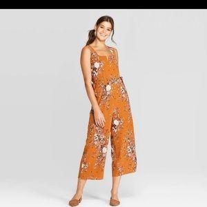Women's floral print sleeveless jumpsuit